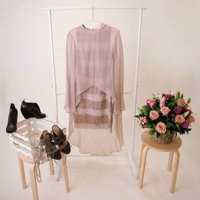 "Detta & Rach - Women's Lace Dress ""Ballroom"" and Silk Top ""Royalty"""